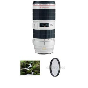 Adorama - Canon EF 70-200mm f/2.8L IS II USM AutoFocus Lens - USA - Advanced Kit - with B + W 77mm Circular Polarizer Multi Coated Glass Filter & B + W 77mm 0.6 (4x) Neutral Density Glass Filter