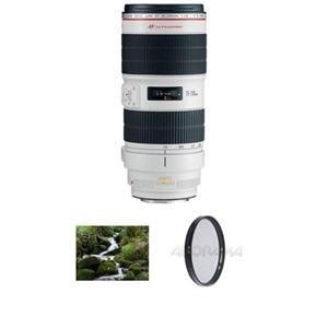 Adorama - Canon EF 70-200mm f/2.8L IS II USM AutoFocus Lens - USA - Advanced Kit - with B + W 77mm Circular Polarizer Multi Coated Glass Filter & B + W 77mm 0.6 (4x) Neutral Density Glass Filter