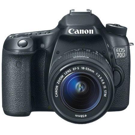Adorama - Canon EOS 70D Digital SLR Camera with EF-S 18-55mm F3.5-5.6 IS STM Lens, Black - Bundle - with Canon EF 70-300mm f/4-5.6 IS USM AF Lens, USA