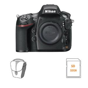 Adorama - Nikon D800 Digital SLR Camera Body, USA Warranty - BUNDLE - with 64GB Class 10 SDXC Memory Card, and Camera Bag