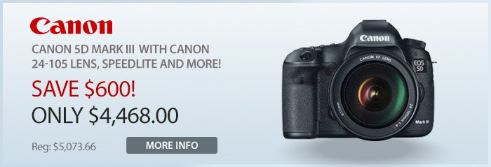 Adorama - Canon 5d Mark II Bundle with 24-105L Lens, and Speedlite.