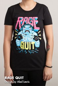 RAGE QUIT Design by Aled Lewis
