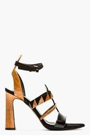 PROENZA SCHOULER Brown Snakeskin & suede Heeled sandals for women