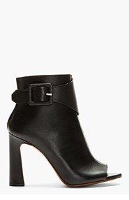 PROENZA SCHOULER Black Open-Toe Buckle Ankle Boots for women