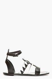 PROENZA SCHOULER Black & White patterned Sandals for women