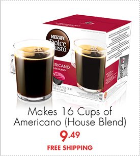 Makes 16 Cups of Americano (House Bend) 9.49 FREE SHIPPING