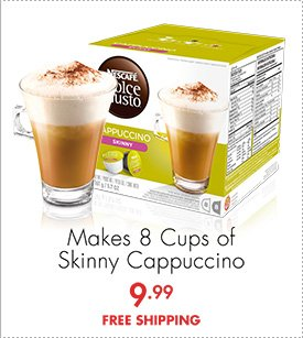 Makes 8 Cups of Skinny Cappuccino 9.99 FREE SHIPPING