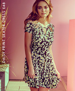Daisy Print Skater Dress