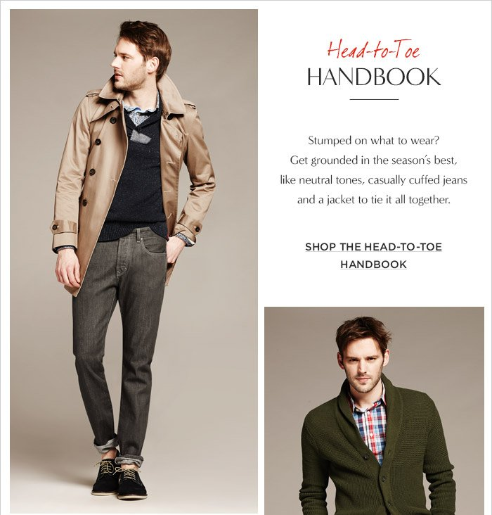 Head–to–Toe HANDBOOK | SHOP THE HEAD–TO–TOE HANDBOOK