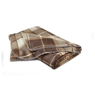 "60x70"" Polar Fleece Plaid Throw"