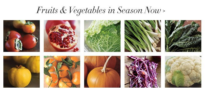 Fruits & Vegetables in Season Now