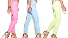 Rainbow of Colors Spring Denim