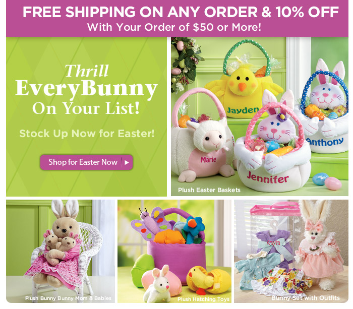 Thrill EveryBunny on Your List • FREE Shipping • 10% OFF!