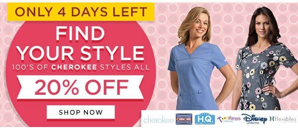 Only 4 Days Left 20% OFF 100's of Cherokee Styles - Shop Now