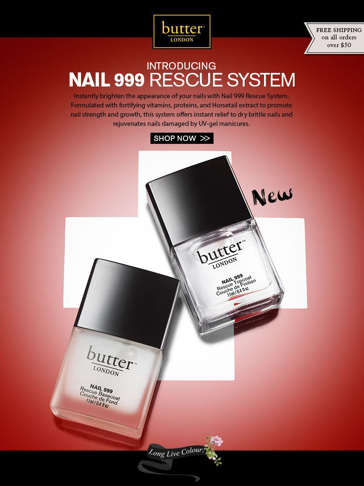 Instantly brighten the appearance of your nails with Nail 999 Rescue System.