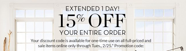 EXTENDED 1 DAY!