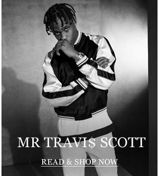 Mr Travi$ Scott: The hip-hop artist and protege of Mr Kanye West models some stage-ready looks. Read & shop now
