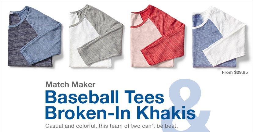 Baseball Tees & Broken-In Khakis