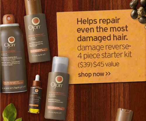 Helps repair even the most damaged hair damage reverse 4 piece  starter kit 39 dollars 45 dollars value shop now