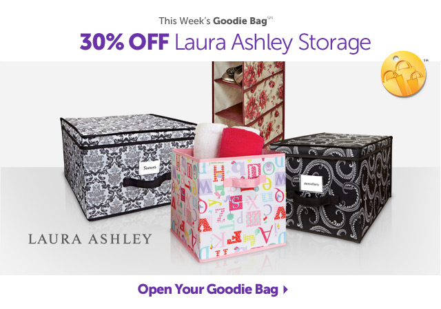 This Week's Goodie Bag - 30% OFF Laura Ashley Storage - Open Your Goodie Bag