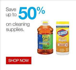 Save up  to 50 percent on cleaning supplies.   Shop now.