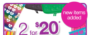 2 for $20* new items added