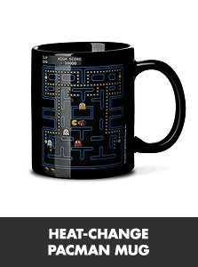 pac man heat mug