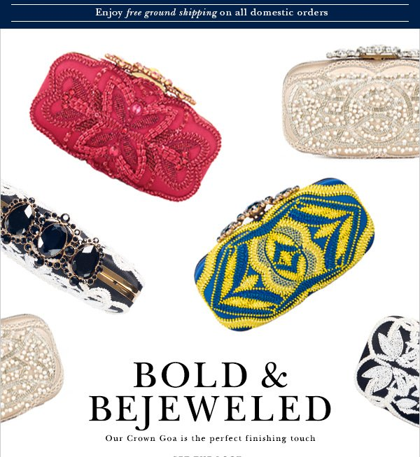 BOLD & BEJEWELED Our Crown Goa is the perfect finishing touch
