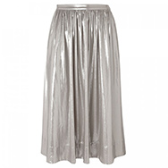 WHISTLES LIMITED EDITION - Daisy pleated metallic skirt