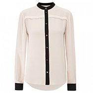 MCQ ALEXANDER MCQUEEN - Contrasting trimmed crepe blouse
