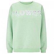CHRISTOPHER KANE - Lace flower cotton blend sweatshirt