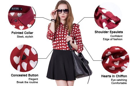 Burgundy Heart Shirt