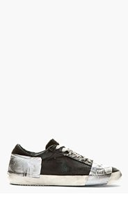 GOLDEN GOOSE Black Duct Tape Distressed Superstar Sneakers for men