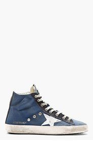 GOLDEN GOOSE Royal blue FRANCY High-top sneakers for men