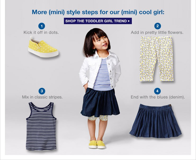 More (mini) style steps for our (mini) cool girl: | SHOP THE TODDLER GIRL TREND