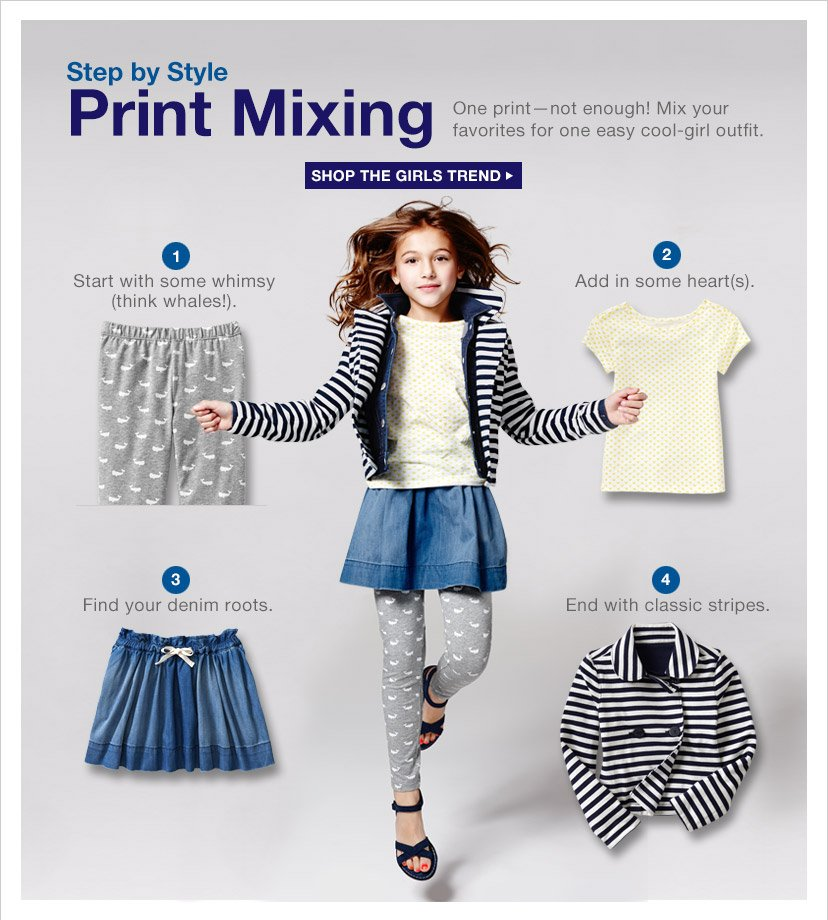 Step by Style Print Mixing | SHOP THE GIRLS TREND