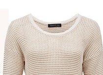 Zoe Metallic Tuck Stitch Sweater