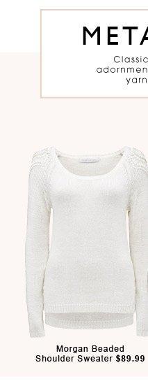 Morgan Beaded Shoulder Sweater