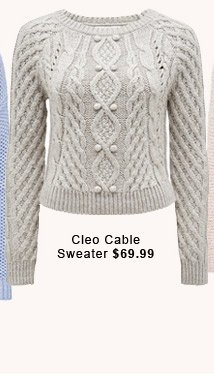 Cleo Cable Sweater