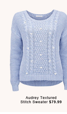 Audrey Textured Stitch Sweater