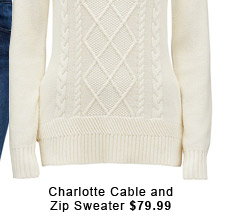 Charlotte Cable and Zip Sweater