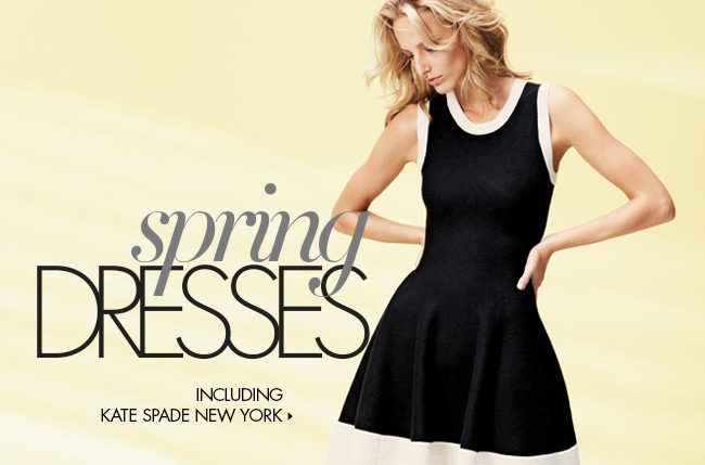 New Spring Dresses + White with Black Trend