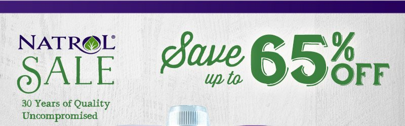 Save Up To 65% Off Natrol