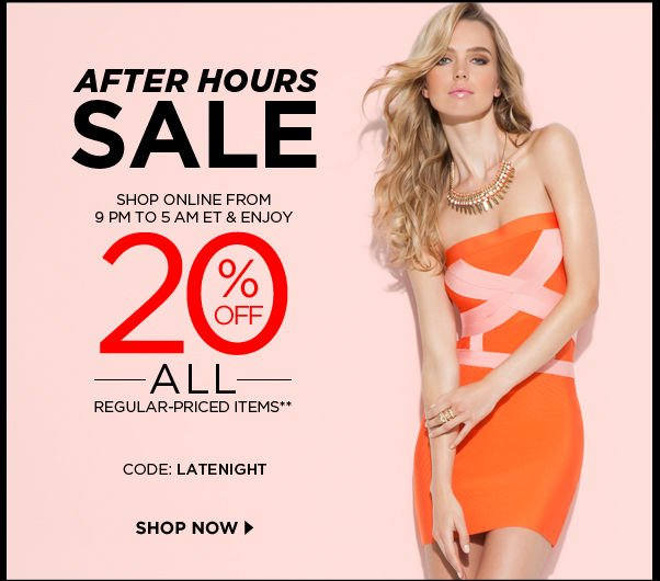 After Hours Sale
