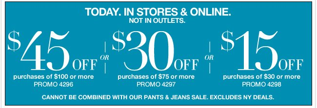Today only, use this coupon in stores & online!