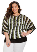 Zigzag Pointelle Dolman Sweater