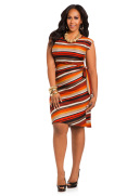 Sleeveless Striped Sweater Dress