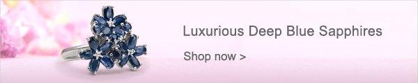 Luxurious Deep Blue Sapphires