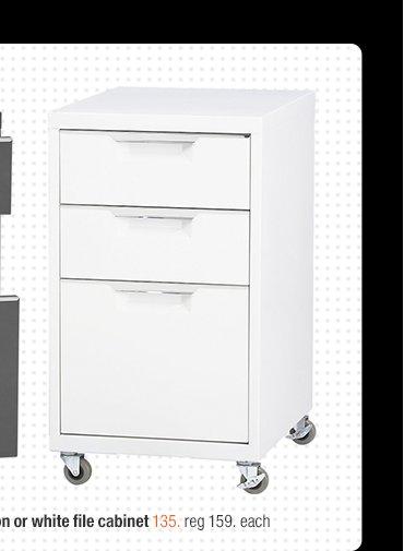 TPS white file cabinet