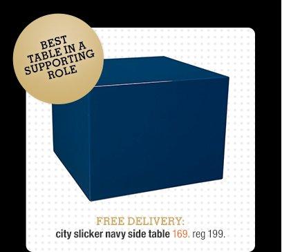 city slicker navy side table